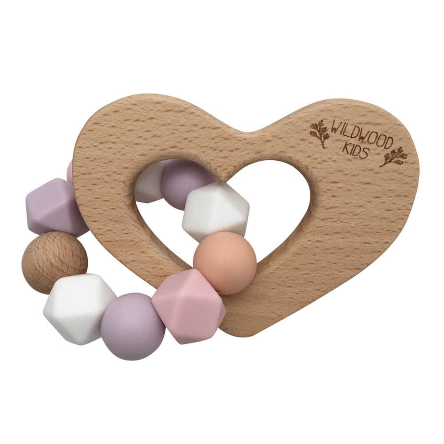 Heart Teething Toy - Pink