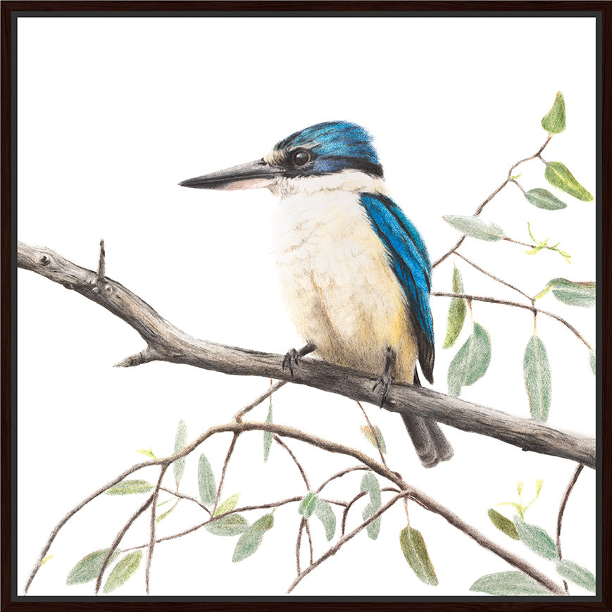 Artist Lab - Rachel Hollis - Sacred Kingfisher - 90x90