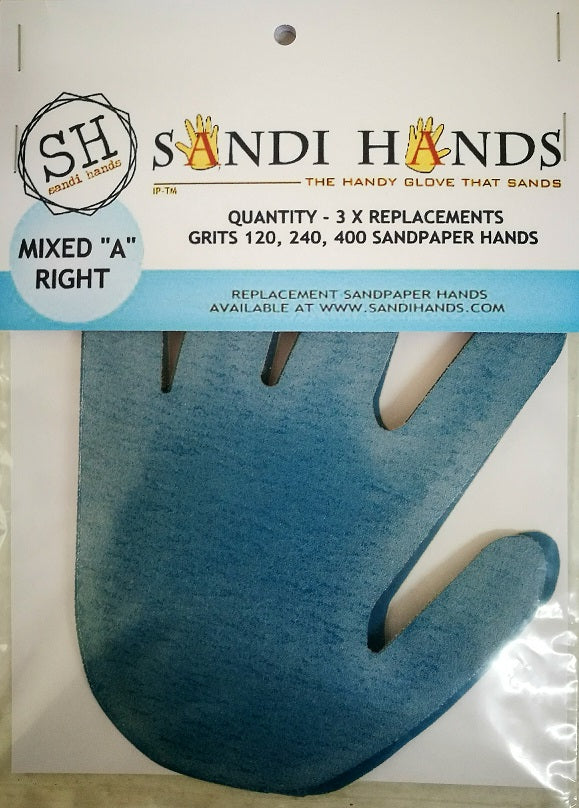 Mixed Grit Sandpaper Pack - Right hand