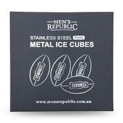 Footy Ball Ice Cubes - 4  Pieces Stainless Steel