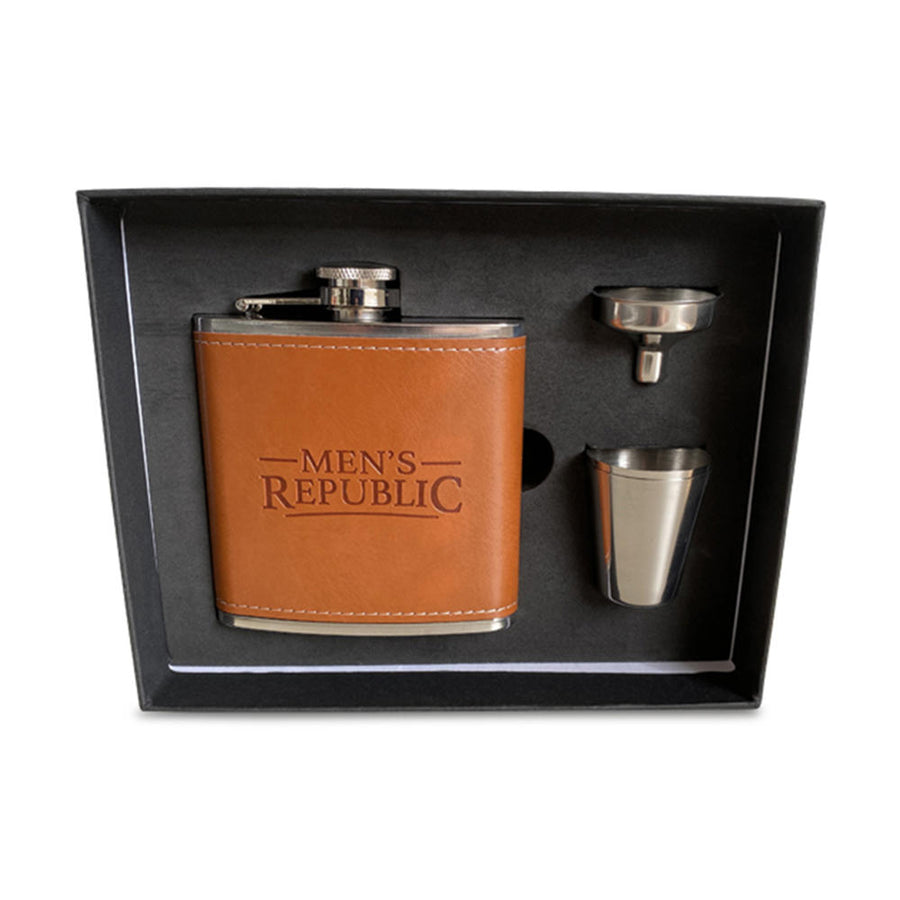 Hip Flask with 1 Funnel & 2 Cups Set