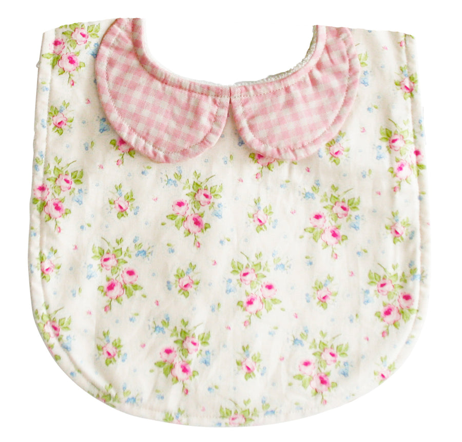 Peter Pan Collar Bib Pink Cream