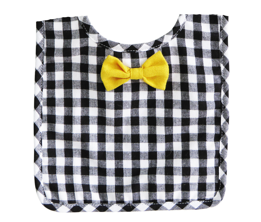 Bow Tie Bib Black Gingham