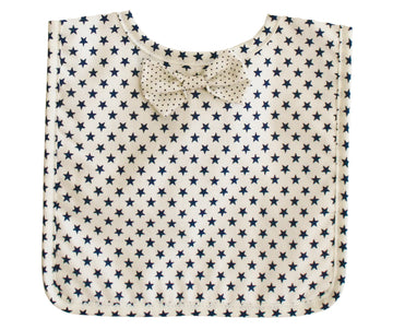Bow Tie Bib White Navy Star
