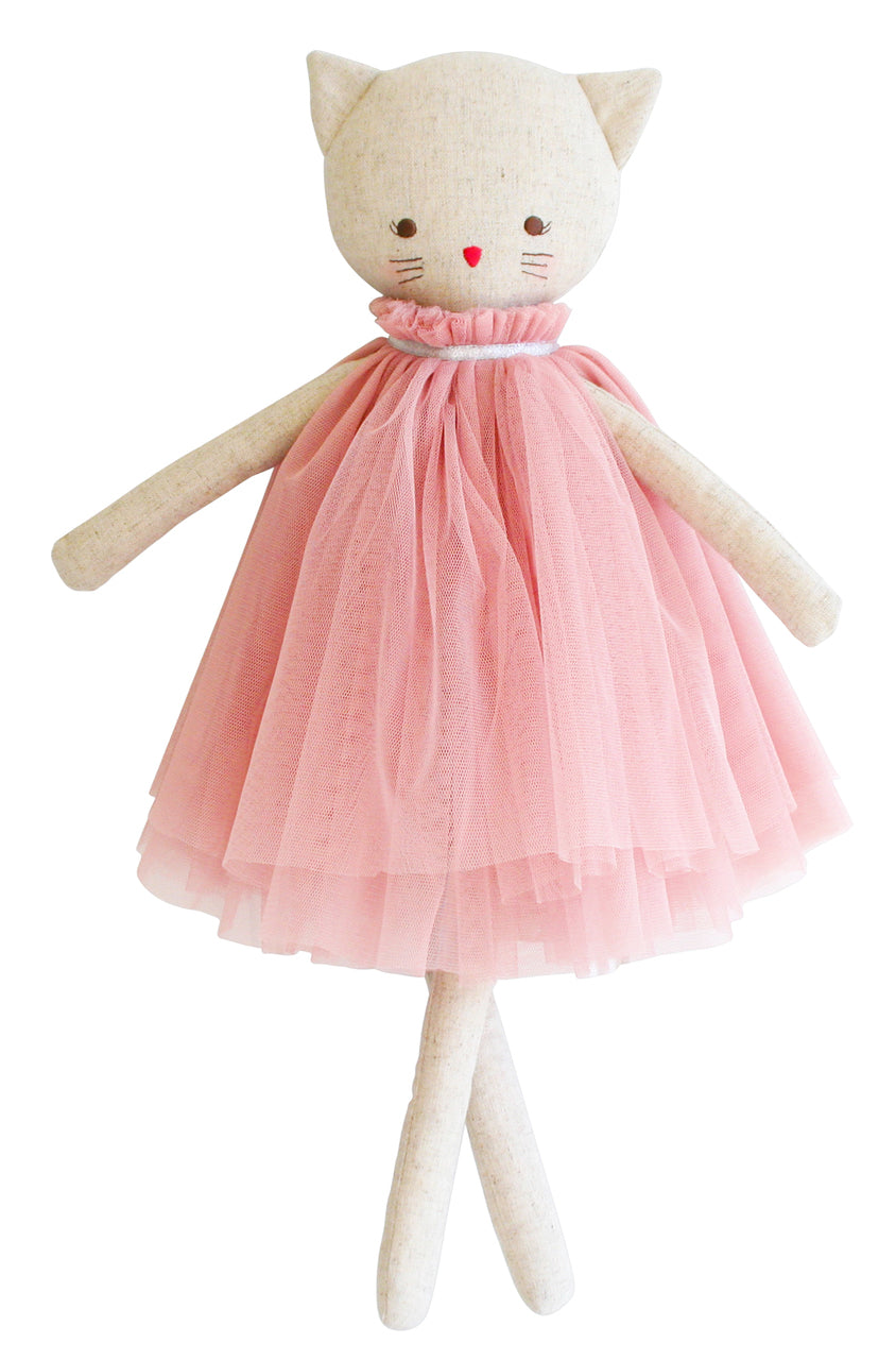 Aurelie Linen Cat Doll - Blush 48cm