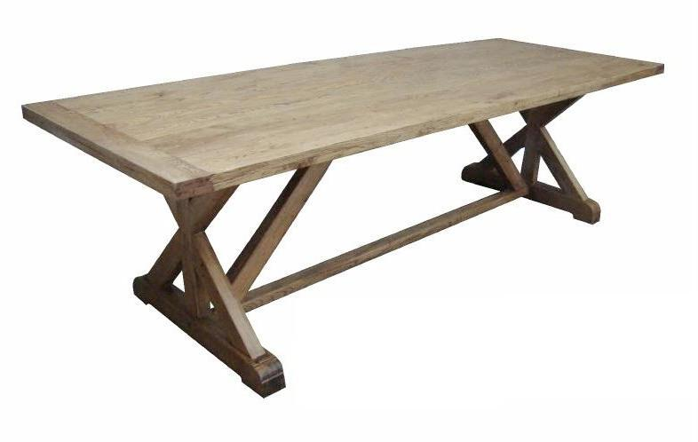 Bordeaux Stretcher-Base Oak Table