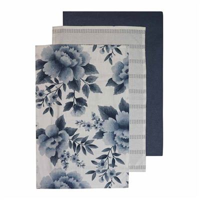 Camilla Blue Tea towel 3 Pack