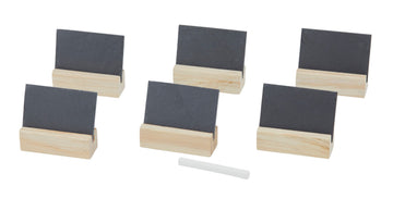 Slate and Wood Name Card Set/6