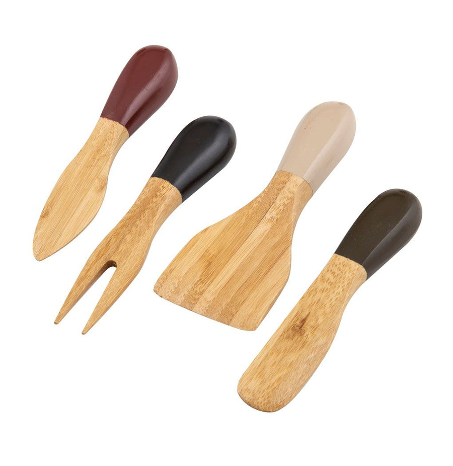 Zambia Bamboo Cheese Knife Set/4