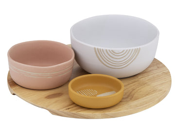 Mojave Dish S/3 on Round Tray Dishes