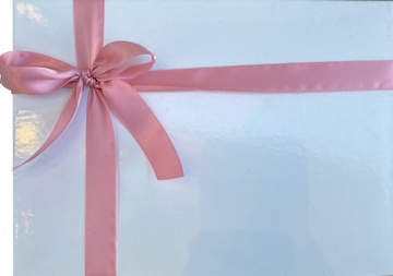 Gift Box including filler and ribbon