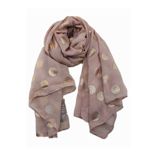 Rose Gold foil print Scarf - Dusty Pink