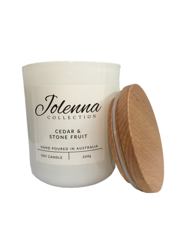 Jolenna Collection Candle Cedar and Stone Fruit