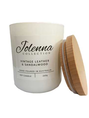 Jolenna Collection Candle Vintage Leather and Sandalwood