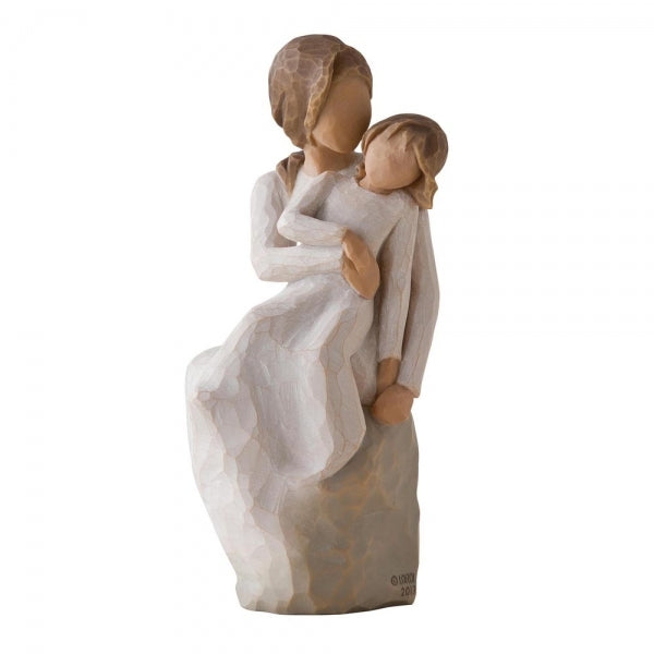 Mother Daughter Figurine Sitting