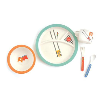 Bamboo Tableware Divided Set - Racer