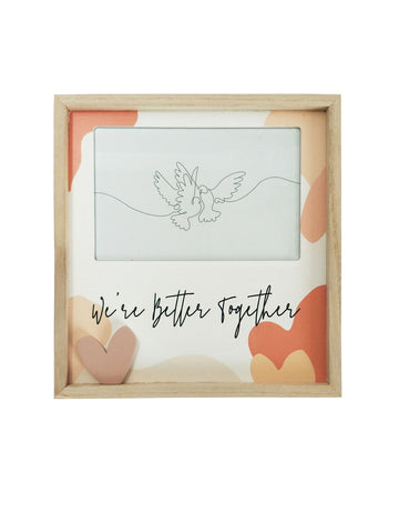 Better Together Heart Frame Peach 4x6