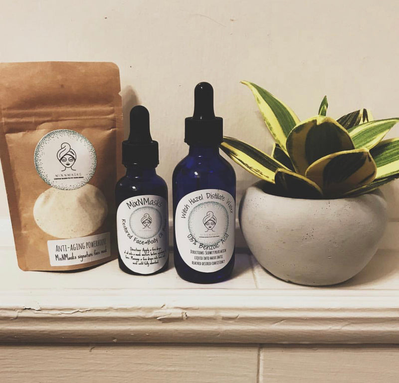 Custom Facial Kits - Face Mask, Liquid Mixin, Face+Body Oil