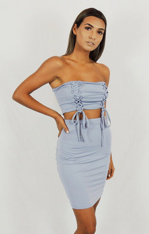 Selena Top Light Blue
