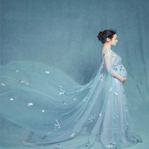 sleeveless-lace-long-maternity-gown-dress-with-flowers-photo-prop-