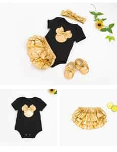 2018 New Baby Romper Golden PP Jumpsuit Pants Suit 0-2 Years Photo  Prop - Shop Backdrop
