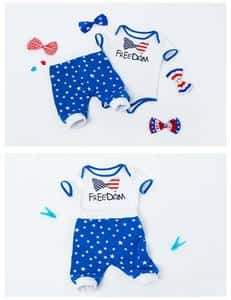 2018 Summer Cotton Harlan Clothing Baby Photo Props For Independence Day - Shop Backdrop