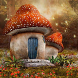 Autumn Fanatic Mushroom Room Photography Backdrop