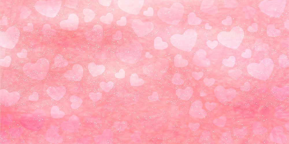 Bokeh Pink Hearts With Gold Dots For Valentines Day Photography Backdrop