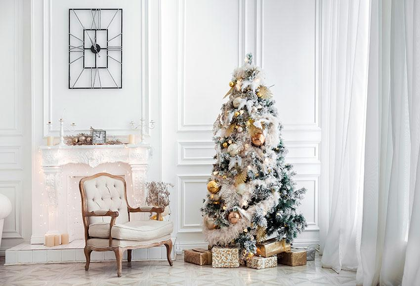 Christmas Room With Chair Photo Backdrop lv-979