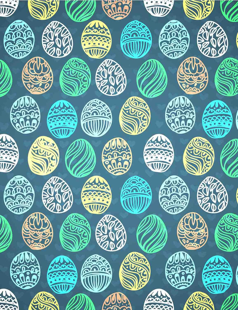 Colorful Easter Eggs Printed Chalkboard Backdrops For Photography - Shop Backdrop