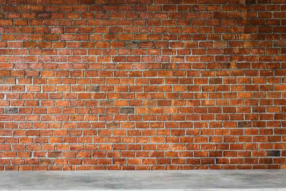 Dark Red Brick Wall With Floor Photography Backdrop K-0036