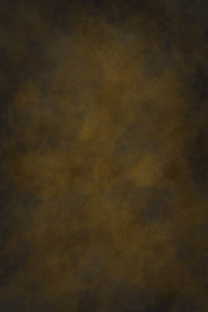 Dark Yellow And Brown Abstract Backdrop For Portrait Photography  k-0005