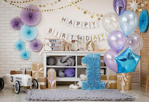 Happy Birthday For One Year Old Backdrop G-1151