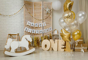 Happy Birthday For One Year Old Backdrop G-1155