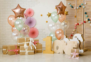 Happy Birthday For One Year Old Backdrop  G-1156