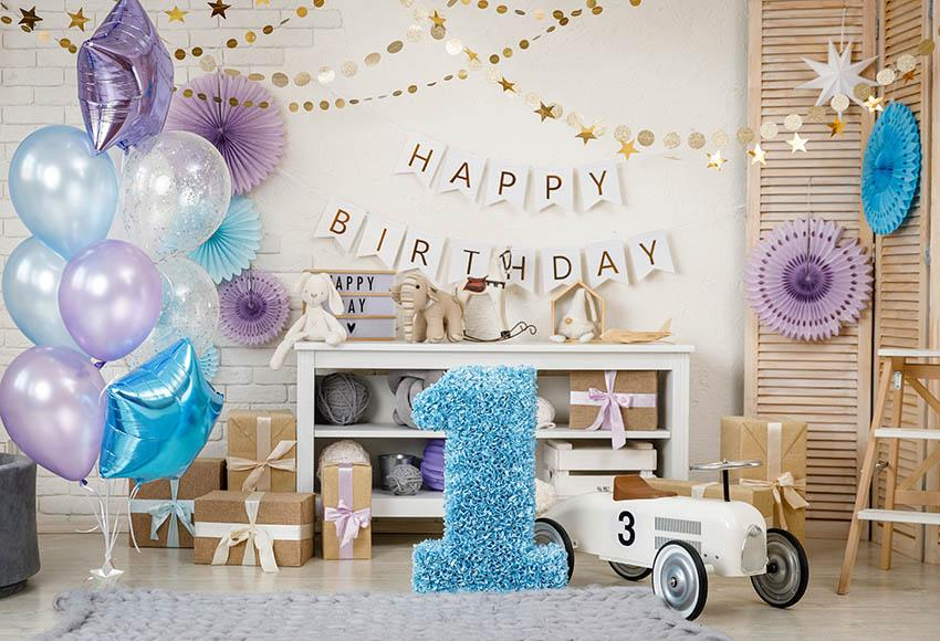 Happy Birthday For One Year Old Backdrop G-1159
