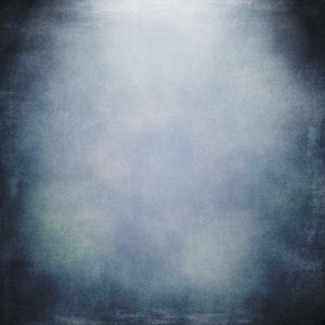 Light Pale Blue Center With Dark Blue Around Edge Abstract Backdrop For Portrait Photography K-0047