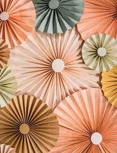 Orang Brown Hand Made Pinwheel Backdrop For Wedding Photography J-0027