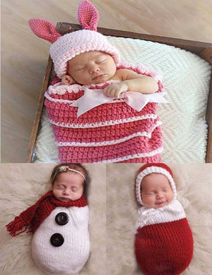 Stretch Knitted Newborn Sleeping Bag Photo Props