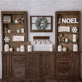 Wooden Cupboard Backdrop For Chirstmas Holiday G-1184