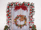 Wooden Door Backdrop For Chirstmas Holiday G-1199
