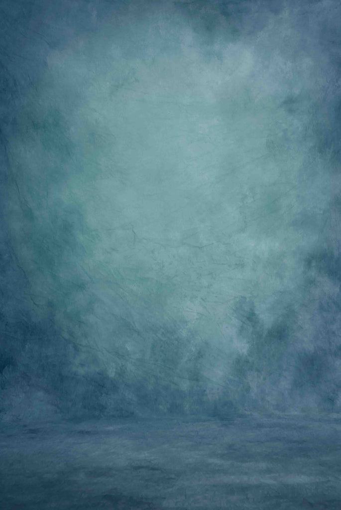 Abstract Cadet Blue Printed Old Master Backdrop For Photography - Shop Backdrop