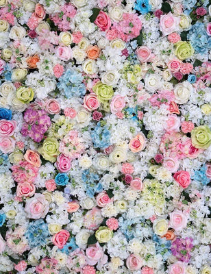 Abstract Colorful Flower Wall Photography Backdrop J-0690 - Shop Backdrop