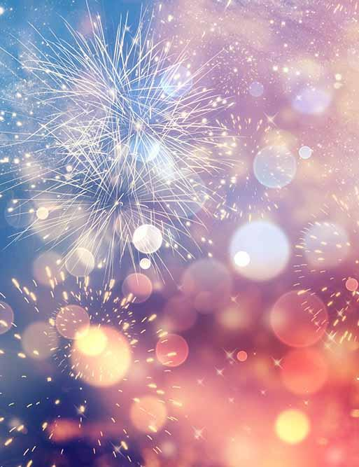 Abstract Fireworks For New Year Photography Backdrop J-0293 - Shop Backdrop
