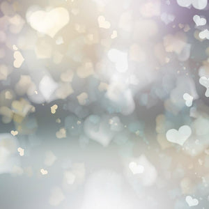 Abstract Heart Bokeh Bright For Valentines Photography Backdrop J-0363 - Shop Backdrop