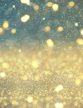 Abstract Light Gold Bokeh Sparkle With Little Baby Blue Photography Backdrop - Shop Backdrop