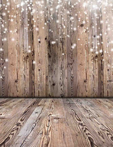 Abstract Nature Wood Wall And Floor With Snow Sparkle Backdrop For Baby Photo