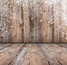 Abstract Nature Wood Wall And Floor With Snow Sparkle Backdrop For Baby Photo - Shop Backdrop