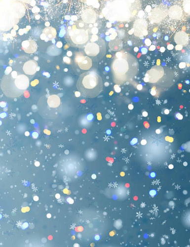 Abstract Orange Bokeh Dots Holiday Photography Backdrop - Shop Backdrop