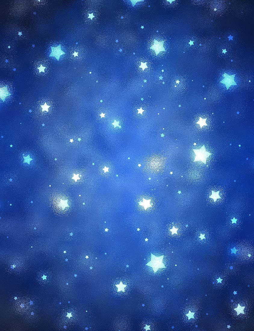 Abstract Stars In Deep Blue Sky Background For Children